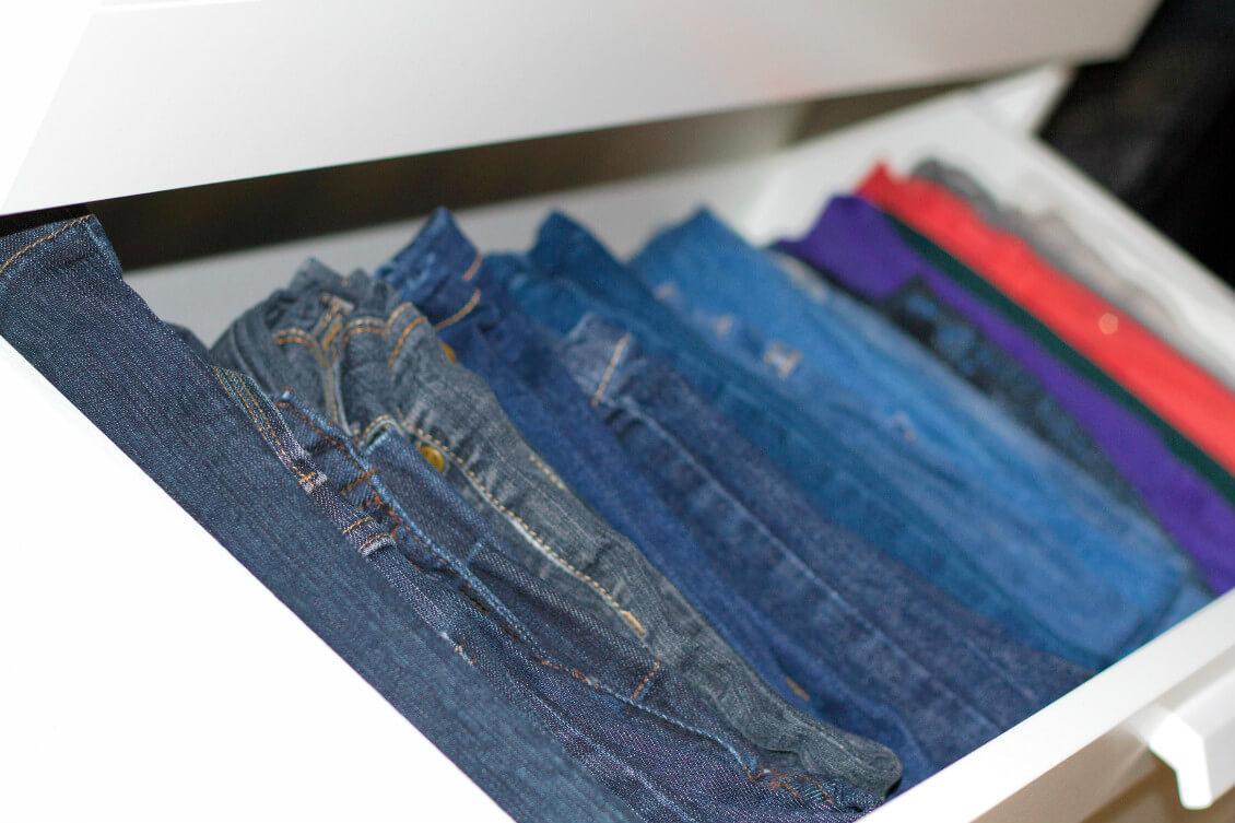rangement vertical dans les tiroirs - mieux organiser son dressing