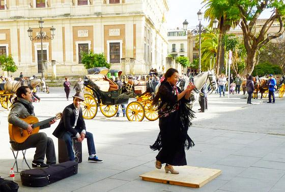 representation-flamenco-rue - Séville