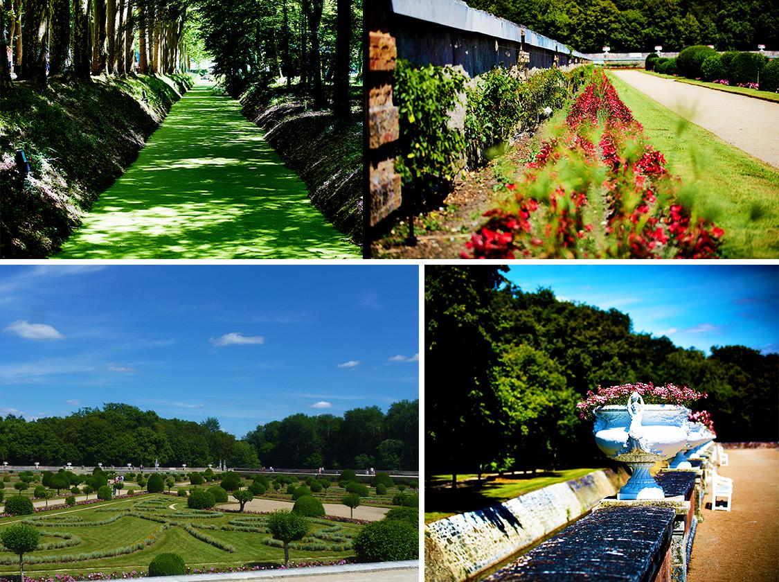 Les jardins du château de Chenonceau