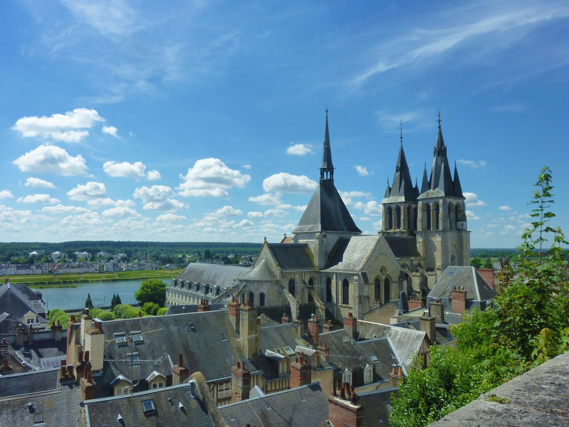 Depuis le château, vue magnifique du vieux Blois et de la Loire