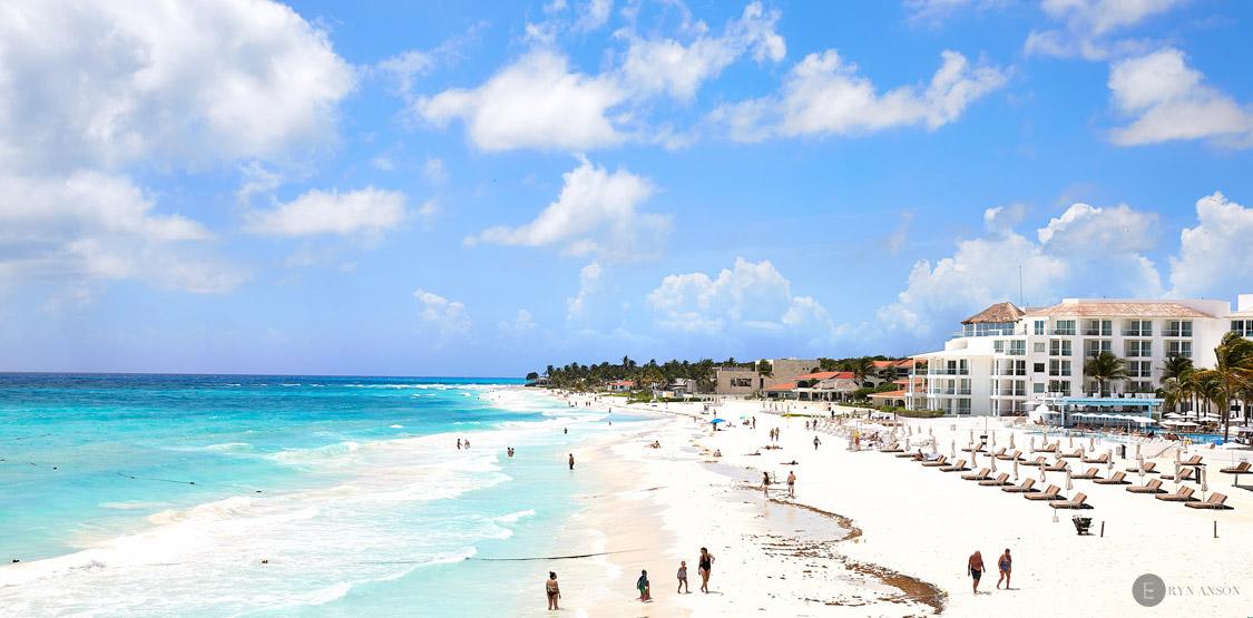 La plage de Playa del Carmen - Mexique