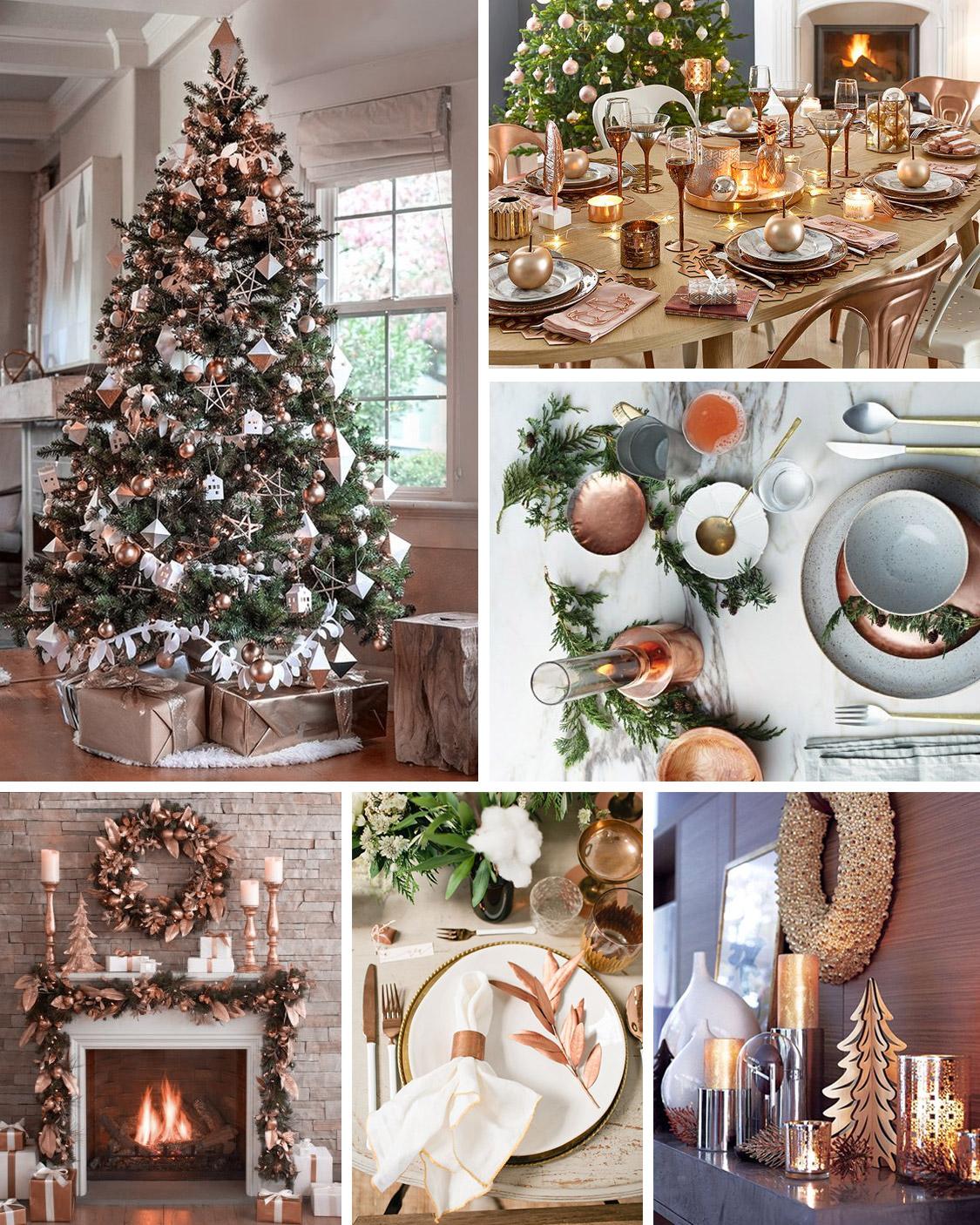 Déco de Noël : Ambiance raffinée avec le cuivré
